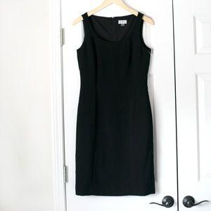 NWOT Tahari black sleeveless sheath dress